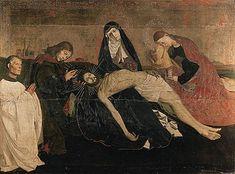 Among many art historians, Enguerrand Quarton's 'Pietà of Villeneuve-lès-Avignon' is considered the greatest artwork of France. Pontius Pilatus, La Pieta, Art Occidental, Paul Gauguin, Art Moderne, Blessed Mother, Old Master, Western Art, Vincent Van Gogh