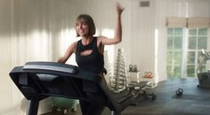 Here Is Taylor Swift Lying On the Cold, Hard Treadmill