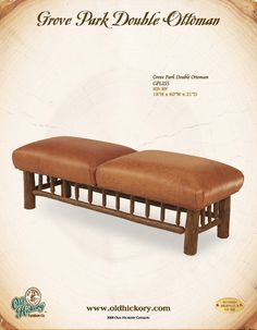 Old Hickory Furniture Co. Grove Park Double Ottoman. Great Bench For A  Foyer Or