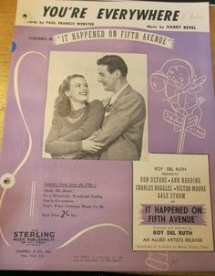 You're Everywhere words by Paul Francis Webster music sheet Blank Sheet Music, Violin Sheet Music, Sheet Music Book, Music Books, Music Albums, Anthem Song, Ann Harding, Gale Storm, Musik