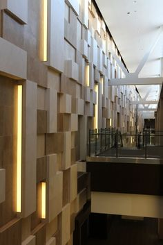 """The magnificent """"ode to Tetris"""" Wall Site Visit, Second Floor, Centre, Stairs, Flooring, Wall, Room, Pictures, Image"""