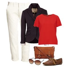 chaqueta con pantalon blanco