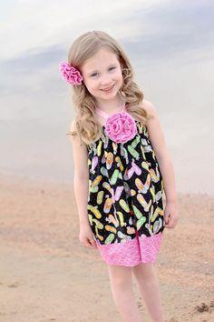 Little Girl Dress - Summer Dress - Beach Dress - Sun Dress - Halter Dress - Toddler Dress - sizes 3 months to 6 years