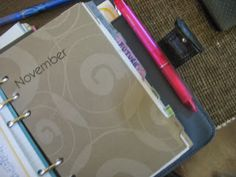 Giftie Etcetera: Video: Monthly Reviews - Setting Up A New Month In Your Planner