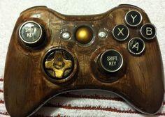 Steampunk Xbox controller.