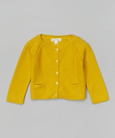 Mustard Fable Cardigan - Infant, Toddler & Girls by Pearls & Popcorn #zulily #zulilyfinds