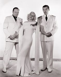 Wallace Beery, Jean Harlow and Clark Gable | by Vintage-Stars