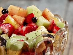 women dressing 2020 Fresh Fruit Salad with Poppy Seed Dressing Recipe : Paula Deen : Food Network - . Poppy Seed Dressing Salad, Dressing For Fruit Salad, Fresh Fruit Salad, Fruit Salads, Food Fresh, Lime Dressing, Strawberry Recipes, Fruit Recipes, Dessert Recipes