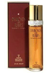Diamonds & Rubies for Women Gift Set - 3.3 oz EDT Spray + 3.3 oz Body Lotion by Elizabeth Taylor. $25.99. Gift Set - 3.3 oz EDT Spray + 3.3 oz Body Lotion. Diamonds & Rubies is a refined fragrance and is recommended for evening use. Fragrance Family: Oriental,Woody. This Gift Set is 100% original.. Diamonds & Rubies was created by Elizabeth Taylor in 1993 and is recommended for evening wear. This feminine scent possesses a blend of lilac, rose, peach, orchid, am...