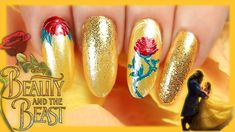 Super nails art disney beauty and the beast ideas Beauty And The Beast Nails, Beauty And The Best, Disney Beauty And The Beast, Disney Princess Nails, Disney Nails, Bridal Nails, Wedding Nails, Hair And Nails, My Nails