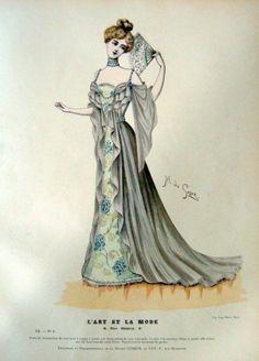 L'Art et la Mode 1899. Victorian fashion plate.