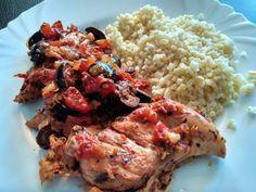 Kuracie mäso s omáčkou na taliansky spôsob Wok, Risotto, Grains, Rice, Healthy Recipes, Ethnic Recipes, Bulgur, Healthy Food Recipes, Healthy Eating Recipes