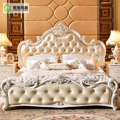 Source Luxury Classic King Size Wood MDF Royal French Style Barocco Bedroom Furniture Set on m. Classic Bedroom Furniture, Bedroom Furniture Sets, Bedroom Sets, Bedroom Classic, Furniture Market, New Furniture, Luxury Furniture, Furniture Ideas, French Furniture