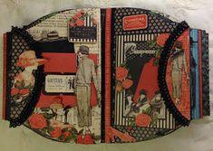 annes papercreations: Graphic 45 Couture purse mini album