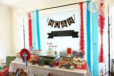Partyscape from Airplane Birthday Party at Kara's Party Ideas. Take off with these party ideas at karaspartyideas.com!