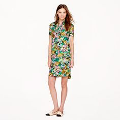 J.Crew - Silk shirtdress in technicolor floral. I love love bright dress...it just something that makes me wanna jump with joy