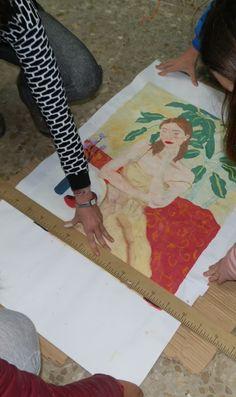Una vez terminadas las pinturas, recortamos la cartulina sobrante y listas para ser expuestas.