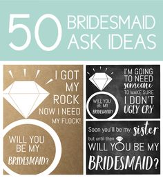 Ideas Wedding Day Gifts From Bridesmaid Maid Of Honor Wedding Day Bridesmaid Gifts, Ask Bridesmaids To Be In Wedding, Wedding Day Gifts, Asking Bridesmaids, Unique Wedding Gifts, Bridesmaid Proposal, Wedding Cards, Wedding Ideas, Trendy Wedding