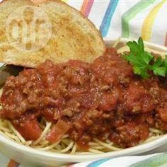 Sauce à spaghetti classique à la viande @ qc.allrecipes.ca