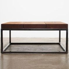 Reclaimed Coffee Table, $1,106, now featured on Fab.--interesting as welding project