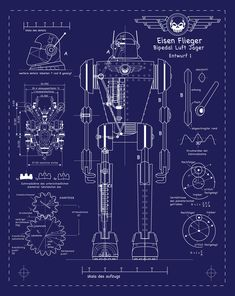 Totenkopf's robot blueprint, SKY CAPTAIN AND THE WORLD OF TOMORROW
