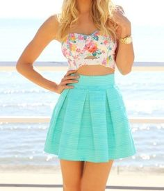 A really nice outfit for the beach or a fun night out its a nice way to start the summer with a nice flowing outfit