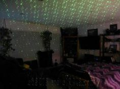 See how the ceiling becomes sprayed with thousands of laser beams from a single Spright MOVE laser starfield projector.  Walk into a party and set it on the counter using the optional wall flange and transform any space in seconds.  http://lasersandlights.com/blisslights-spright-move-green-wmoving-laser-starfield-wtrans-p-183.html?cPath=18