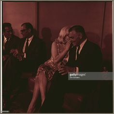 Actor Montgomery Clift, writer Arthur Miller, actress Marilyn Monroe and actor Clarke Gable sit together at the press conference for the filming of the Misfits at The Mapes Hotel, circa August 1960.
