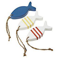 Tu Wooden Fish Set of 3 - Accessories - Decorative accessories - Living room - Home & garden - Sainsbury's