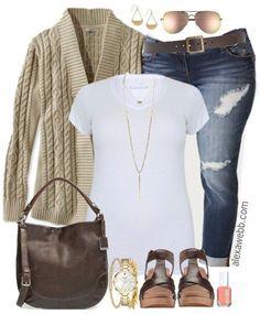 Plus Size Spring Transition Outfit - Plus Size Fashion for Women - alexawebb.com #alexawebb