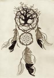 Tree of life inside dream catcher