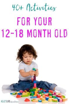 Are you looking for activities for your month old? Then you're going to love this list! Most require nothing special just your time! It's a great list for mom dad grandparents aunts uncles babysitters and more! 15 Month Old Activities, Toddler Learning Activities, Infant Activities, Montessori Toddler, Learning Games, Kids Learning, Family Activities, Bebe 1 An, Baby Lernen