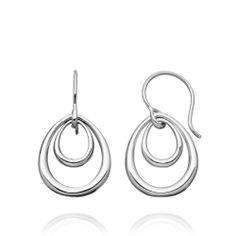 A modern classic, these earrings appeal to every generation. #AstleyClarke #jewellery #designer #DinnyHall #silver #jewelry #Christmas #wishlist #Hanukkah #Chanukah #London #earrings #British