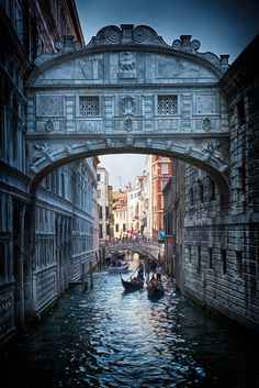 Venice Bridge of Sighs -it's said that couples who ride a gondola under the bridge are together for eternity