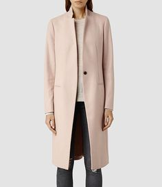 Womens Nehru Coat (Dusty Pink) - product_image_alt_text_1