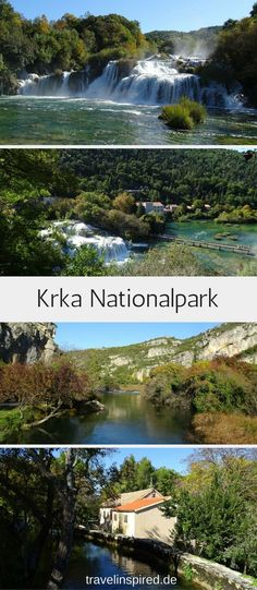 Travel tip for a short trip in autumn: Discover Croatia's beautiful national parks Krka and Plitvice Lakes with colorful deciduous trees. Krka National Park Croatia, Reisen In Europa, World Pictures, Short Trip, Europe Destinations, Waterfall, Beautiful Places, National Parks, Around The Worlds