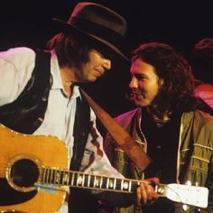 Neil Young and Eddie Vedder