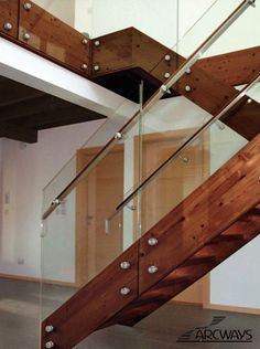 Arcways Stainless Steel Stair - This staircase was manufactured using stainless steel parts from Italy.