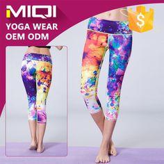 Yoga Apparel Product multi | Spandex yoga wear custom made subimation print woman colorful sports ...