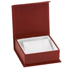 Deep Red Contemporary Collection Earring Box- ST61-1021:100001:T