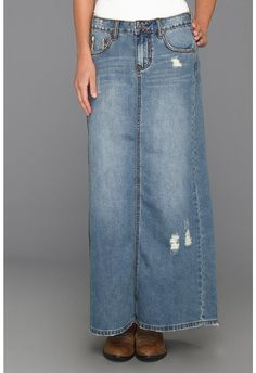 Back Flap Pocket Long Denim Skirt available at #Maurices | Clothes ...