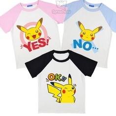 1a02410ce706e S-3XL Pokemon Pikachu Yes or No Unisex Shirt CP167483 Moon Clothing