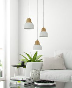 Pendant lamp metal and solid ash wood Pendant Lamp, Ash, Ceiling Lights, Metal, Wood, Home Decor, Gray, Decoration Home, Woodwind Instrument