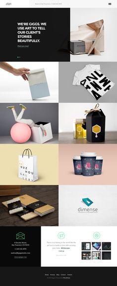 Giggs: Agency / Portfolio WordPress Theme #creative #portfolio