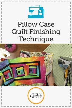 Quilt finishing can be one of the most tedious parts of making a quilt depending on what kind of binding you are making and how you are attaching it. Heather Thomas shows you a different way to finish a quilt that doesn't require a binding and saves you lots of time.
