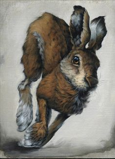 Vanessa Foley March Hare 2 Acrylic on linen panel
