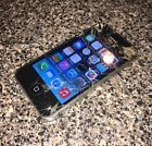 Apple iPhone 4 16GB Black (T-Mobile) Smartphone Cracked Screen Works IOS 7.1.2