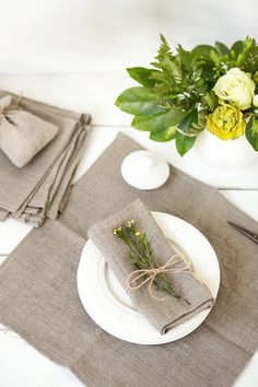 Softened linen napkins set of 6 Rustic wedding napkins