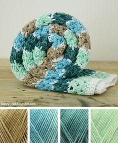 Crochet spike stitch blanket, in Scheepjes Sunkissed yarn | Happy in Red