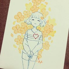Last commission done!! Somebody asked for Frisk to be drawn